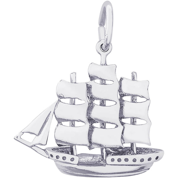 Full-Rigged Ship Charm