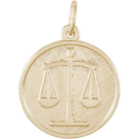 Scales Of Justice Disc Charm