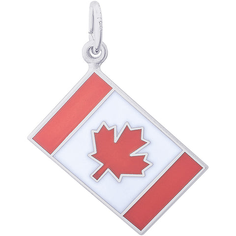 Painted Canadian Flag Charm