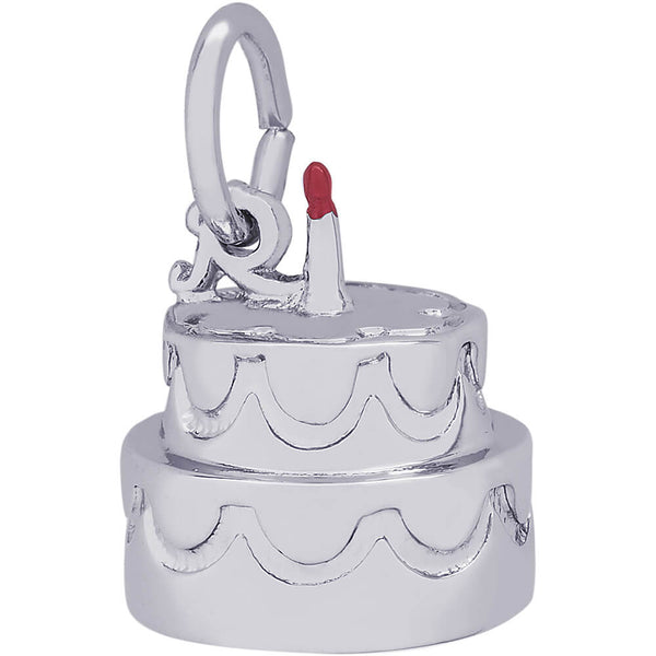 Two-Tier Cake With Candle Charm
