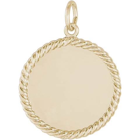 Small Rope Disc Charm