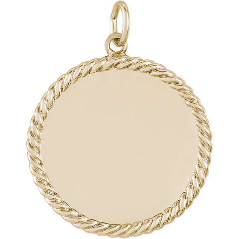 Medium Rope Disc Charm