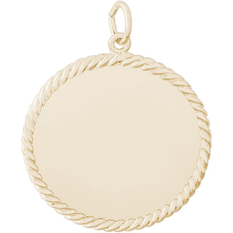 Large Rope Disc Charm