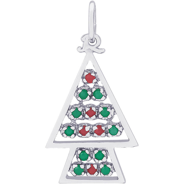 Beaded Christmas Tree Charm