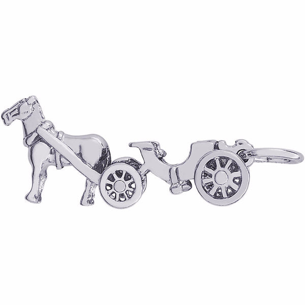 Horse Drawn Carriage Charm