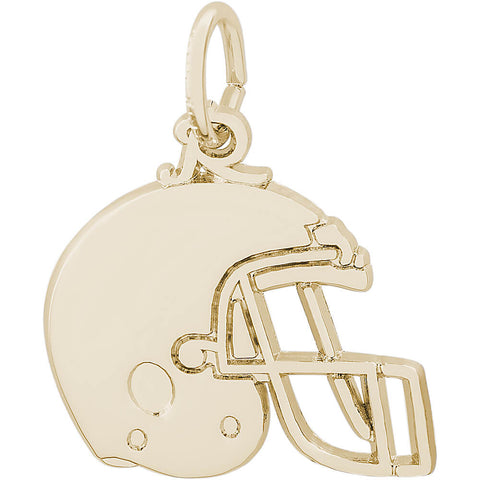 Flat Football Helmet Charm