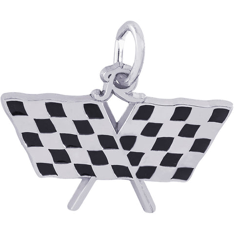 Checkered Racing Flags Charm