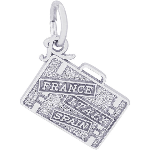 France, Italy, Spain Suitcase Charm