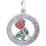 Portland City Of Roses Charm - Rembrandt Charms - 1