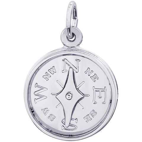 Compass With Needle Charm