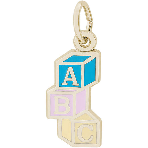ABC Baby Blocks Charm