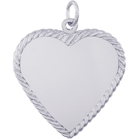 Large Classic Rope Heart Charm