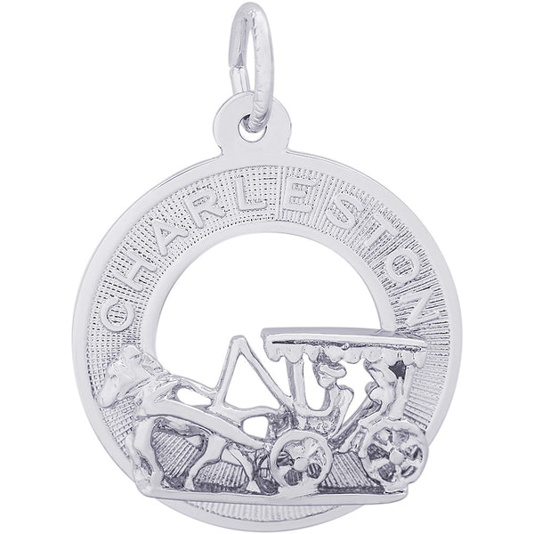 Charleston Carriage Ring Charm