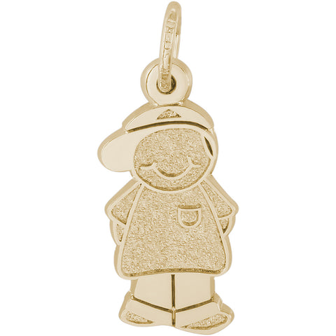 Boy With Baseball Cap Charm