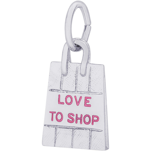 Love To Shop Bag Charm