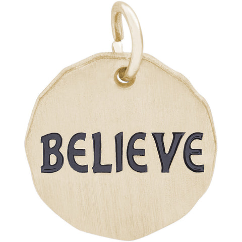 Believe Charm Tag