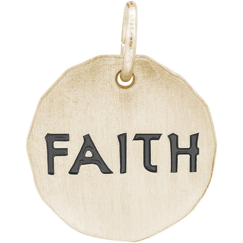 Faith Charm Tag