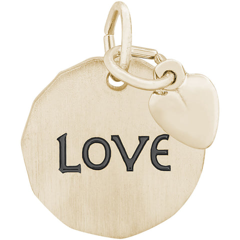 Love Charm Tag With Heart Accent