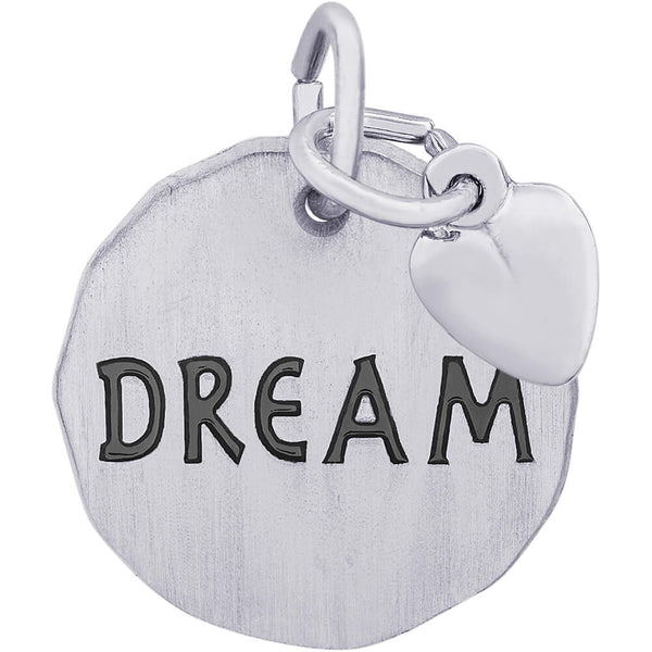 Dream Charm Tag With Heart Accent