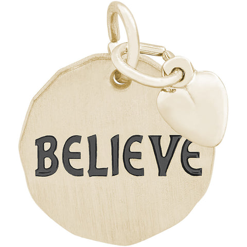 Believe Charm Tag With Heart Accent
