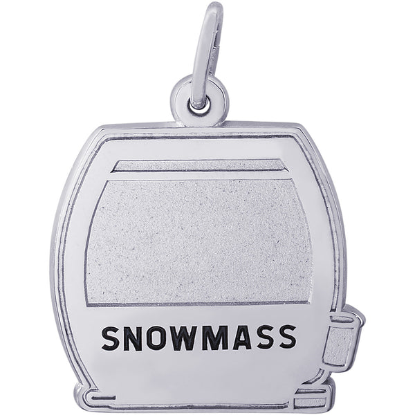 Snowmass Flat Cable Car Charm