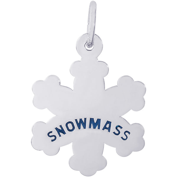 Snowmass Snowflake Charm
