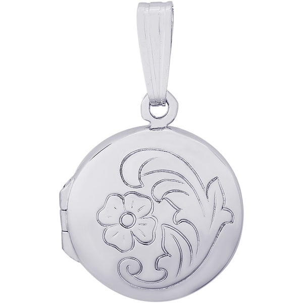 Circle With Flower Design Locket
