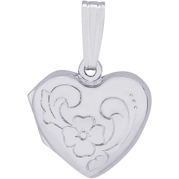 Heart With Flower Design Locket