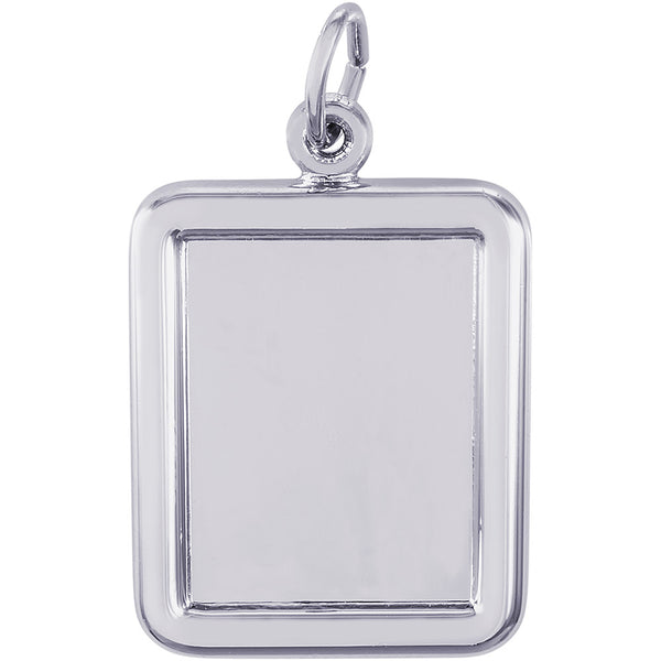 Vertical Round Corner Rectangle PhotoArt Charm