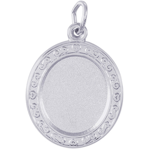 Oval Scroll PhotoArt Charm