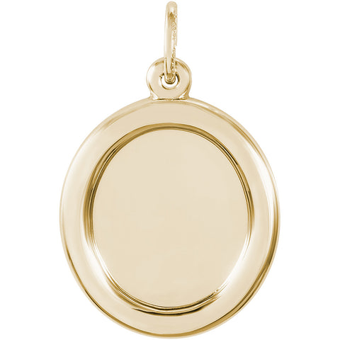 Small Oval PhotoArt Charm