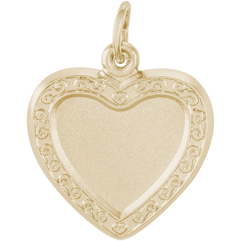 Heart Scroll PhotoArt Charm