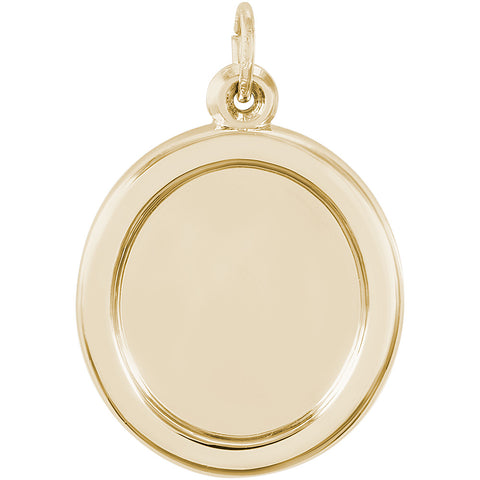 Large Oval PhotoArt Charm