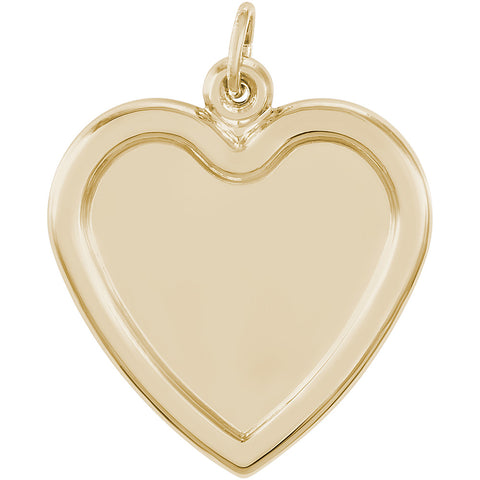 Large Heart PhotoArt Charm