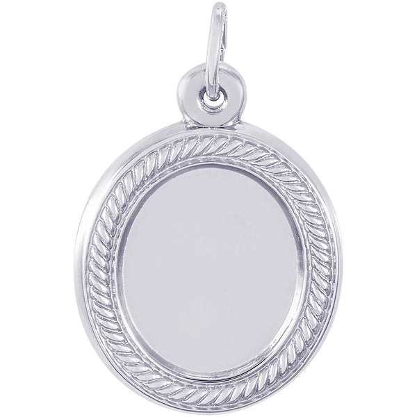 Oval Rope PhotoArt Charm