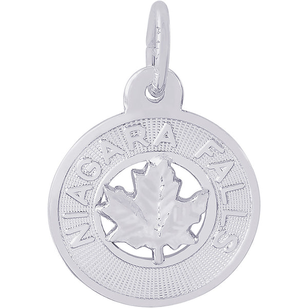 Niagara Falls Small Maple Leaf Ring Charm