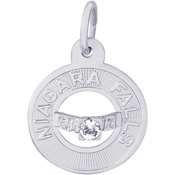 Niagara Falls Wedding Ring Ring Charm