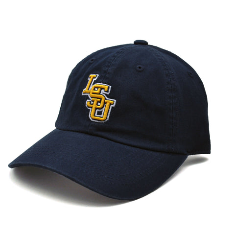 LSU Tigers Relaxed Fit Cotton Adjustable Hat Navy