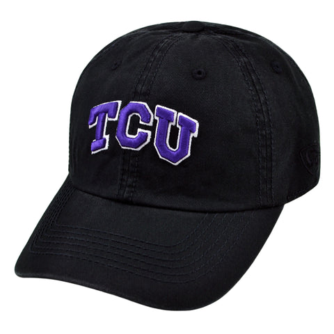 TCU Relaxed Fit Cotton Adjustable Hat Black