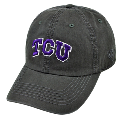 TCU Relaxed Fit Cotton Adjustable Hat Grey
