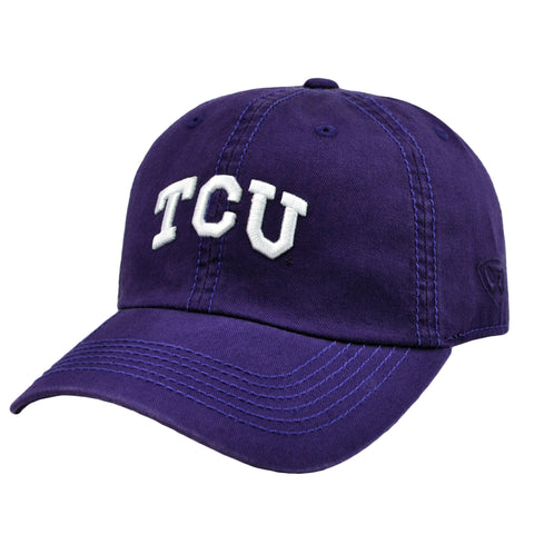 TCU Relaxed Fit Cotton Adjustable Hat Purple
