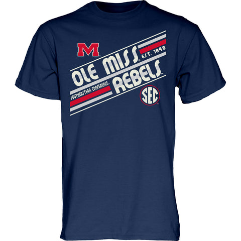 Ole Miss Rebels Vintage Print Heavyweight Mill Dyed Tee