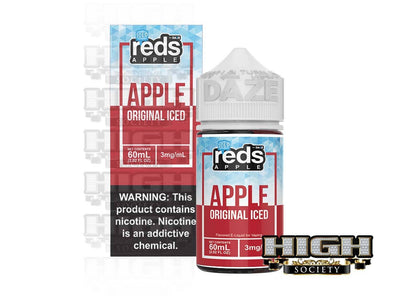 Iced Apple by Reds Apple E-Juice 60ml - High Society Supply