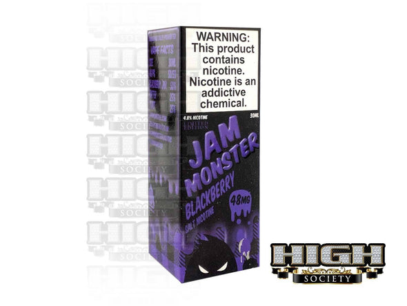 Blackberry by Jam Monster Salt Nicotine 30ml - High Society Supply
