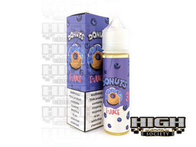 Blueberry Donuts by Donuts E-Juice 60ml - High Society Supply