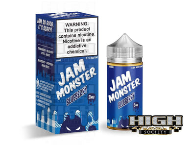 Blueberry by Jam Monster 100ml - High Society Supply