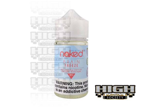 Brain Freeze by Naked 100 Menthol 60ml - High Society Supply