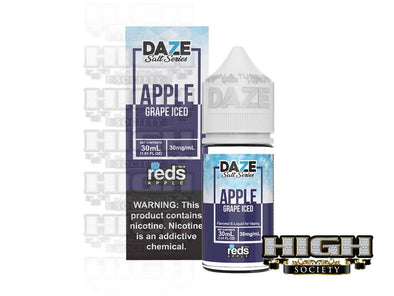 Reds Grape Iced Salt by 7 Daze Salt Series 30ml - High Society Supply