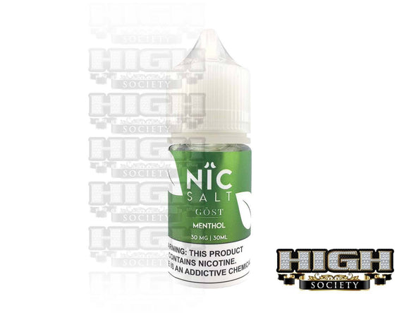 Menthol by Nic Salt GOST Vapor 30ml - High Society Supply