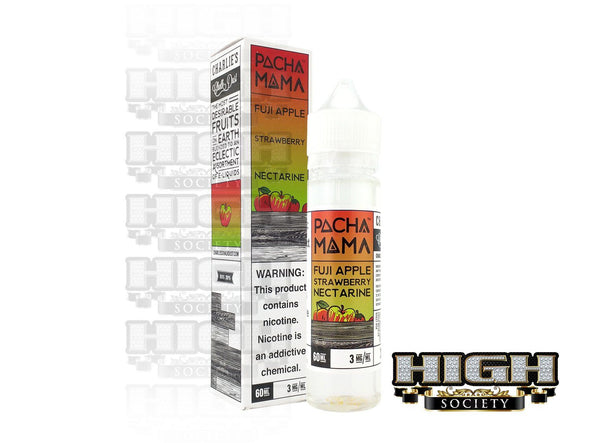 Apple Strawberry Nectarine by Pachamama E-Liquid 60ml - High Society Supply